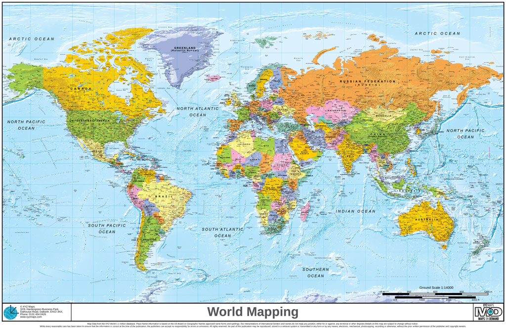 MapSherpa XYZ Maps - Map of worlf