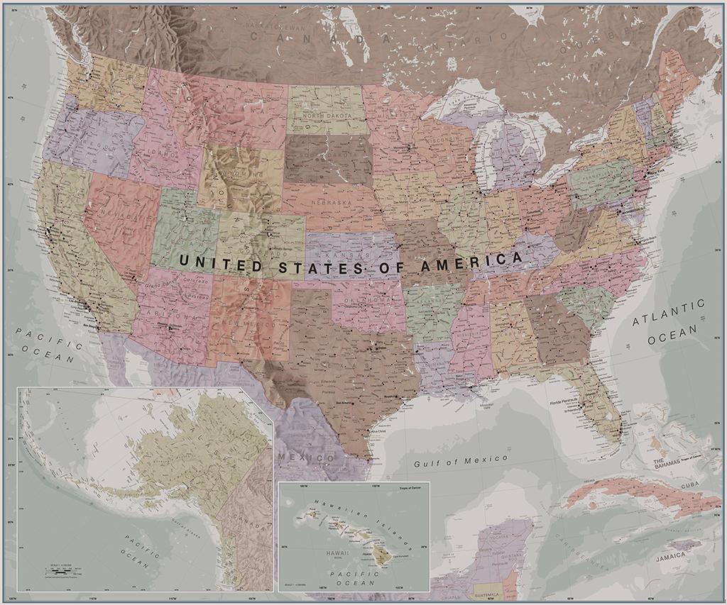 Mapsherpa maps international sample map executive world political wallpaper gumiabroncs Gallery